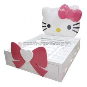 Jual Tempat Tidur Anak Karakter Hello Kitty Harga Murah