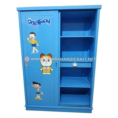 Jual Lemari Pakaian Anak Karakter Doraemon 2 Pintu Jepara
