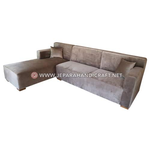 Jual Sofa Ruang Tamu Sudut Ikko Kayu Jati Jepara Murah