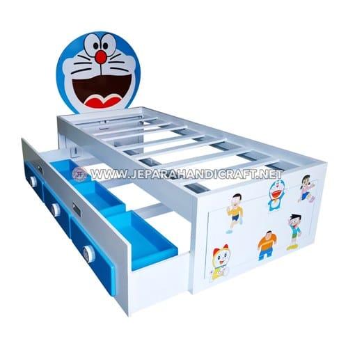Jual Tempat Tidur Anak Sorong Karakter Doraemon Terbaru Murah